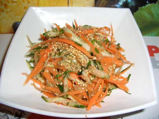 Кунжут в салате